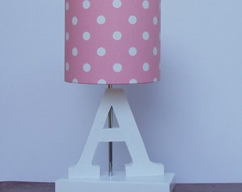 Small Handmade Elephant Drum Lamp Shade White with Grey
