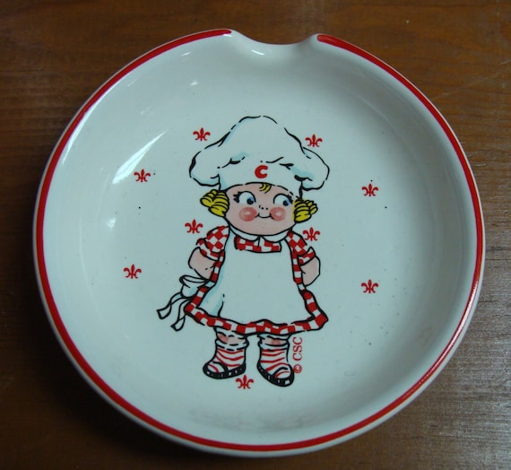 1991 Campbell Soup Kid Girl Spoon rest