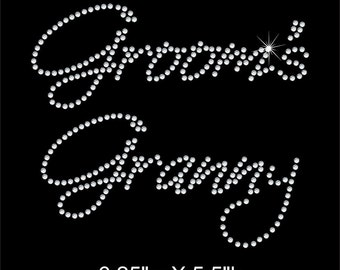 Groom's Granny Rhinestone Transfer