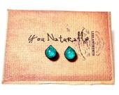 Mini Wooden Teardrop Earrings