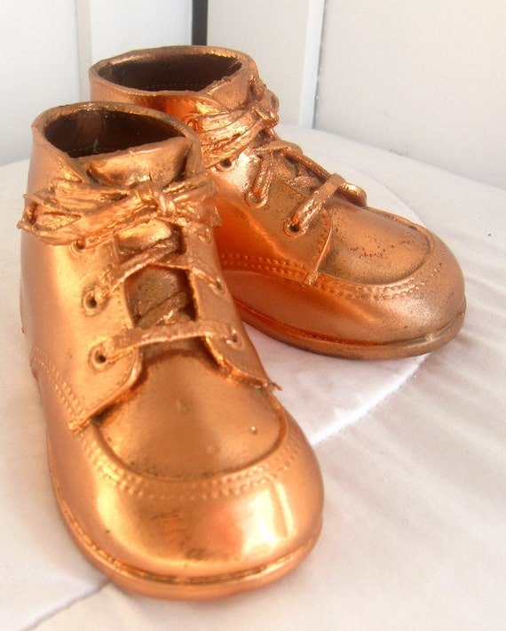 Baby Shoes Gold Plated