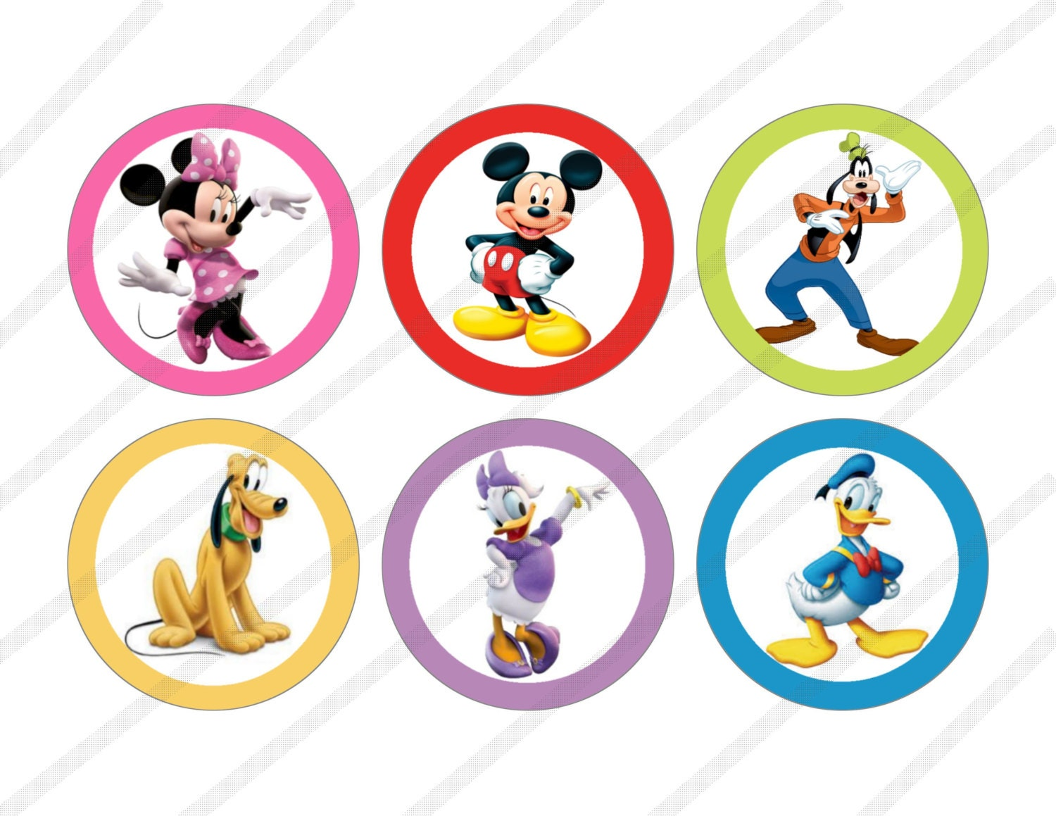 Disney Mickey Mouse Clubhouse Custom Birthday Party 3 inch