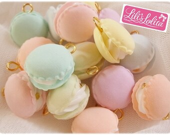 Pastel Macaron Clay Charms
