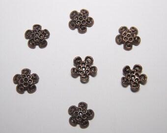 25 PCs Bead Caps / 12mm / antique copper tone  PK020