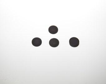 10 PCs 12mm of Polaris cabochon black