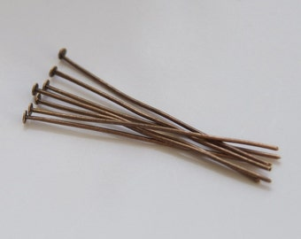 40 Piece copper head pins about 45 mm long