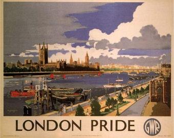 Art Print London Railway Poster Print, 1946, Print 8 x 10