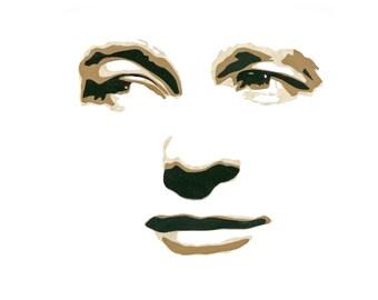 """Original Hand-Cut Paper Portrait - """"Dennis Morgan"""""""