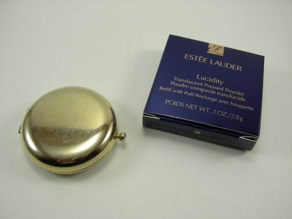 Vintage Estee Lauder Lucidity Powder Compact with New Lucidity
