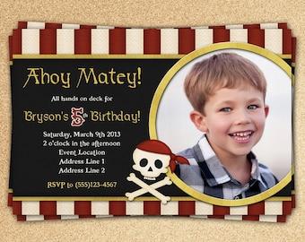 Buccaneer Birthday Invitation