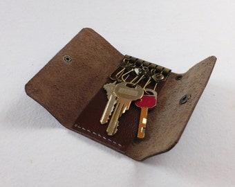 20% OFF SALE Mahogany Leather Key Holder