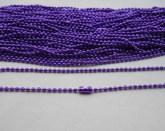 SALE--20 pcs - 27inch, 2.0 mm  Purple Ball Chain Necklaces