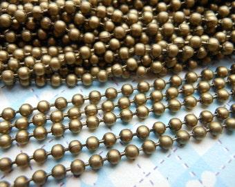 SALE--50 pcs 27inch, 2.0 mm Antique Bronze Ball Chain Necklaces