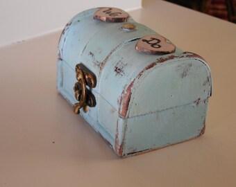 Ring Bearer Box - Shabby Chic Rustic Wedding Decor - Ring Pillow - Personalized Ring Box - Ring Bearer