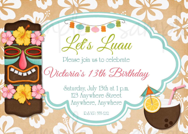 printable luau invitations - Nuruf.comunicaasl.com
