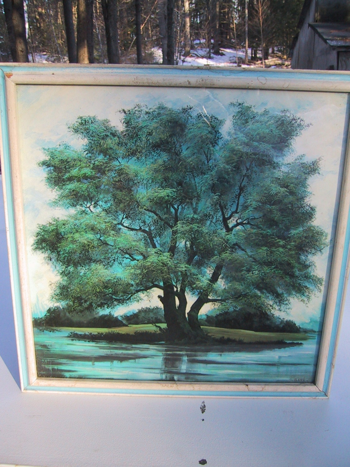 Margaret Gare Barks Fantastic Print Of A Tree Around Water