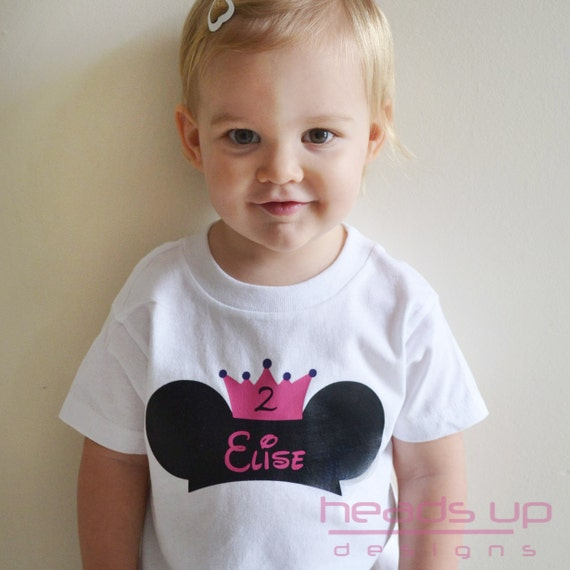 Girl Disney Birthday Shirt - B Day t-shirt Princess Mickey - Toddler Girl Mickey tshirt - Personalized Disney t shirt Girl - Mickey Onesie -