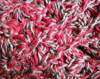 Super Soft All-Season Scarf - Burgundy / Wine and Taupe / Gray