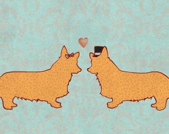 Corgis in Love w/ CUSTOMIZABLE Message Option
