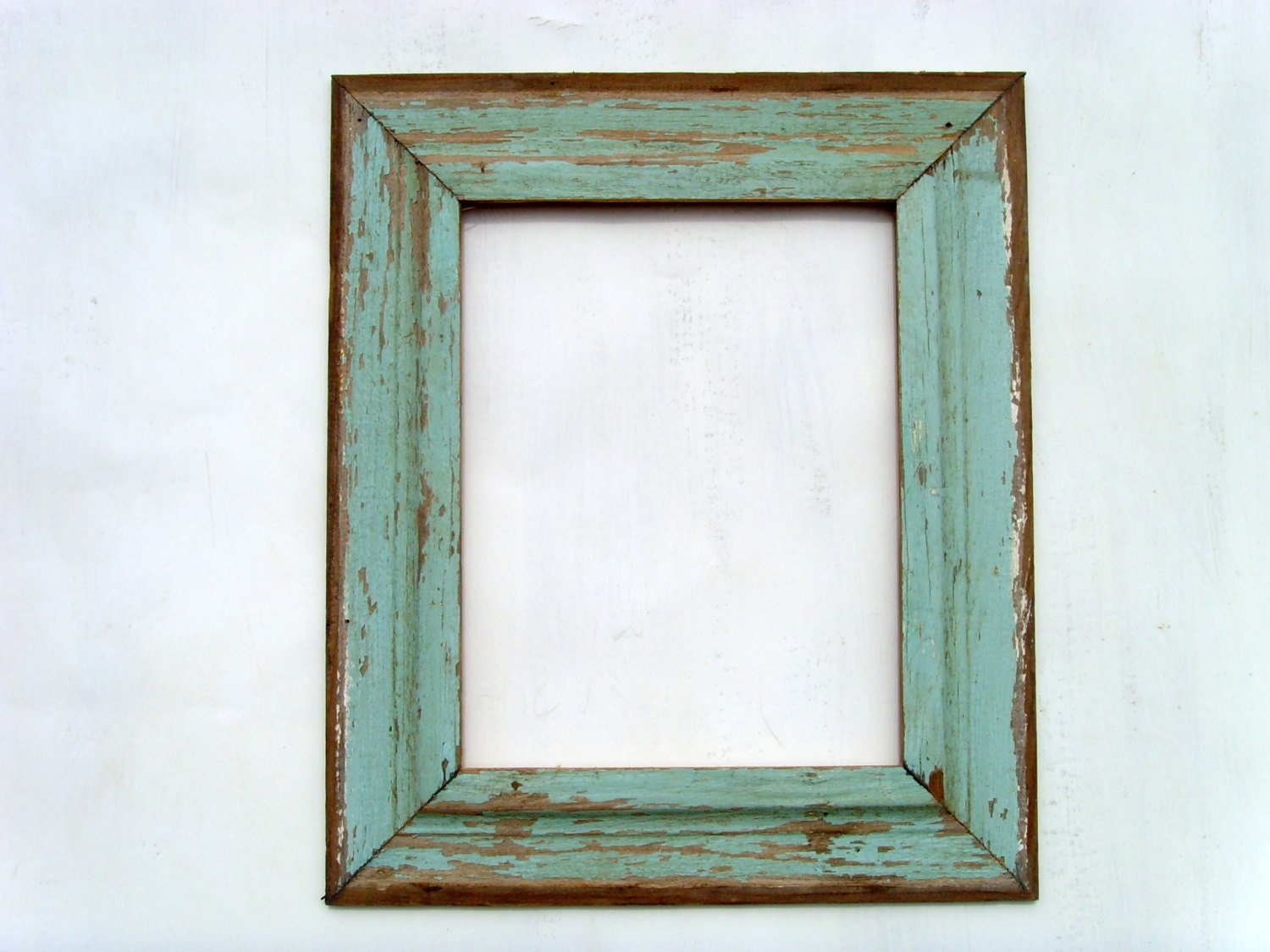 11x14 Old Cottage Siding Reclaimed Wood Frame Green