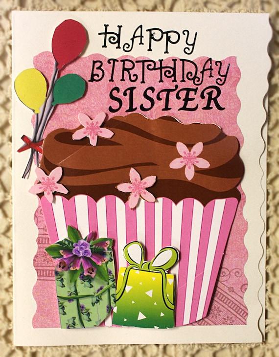 items similar to happy birthday sister card on etsy