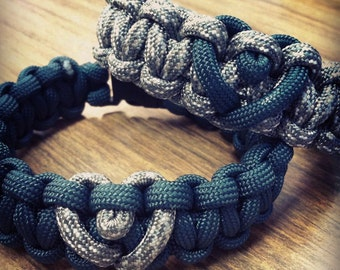 His and Hers Paracord Bracelets (2 bracelets)