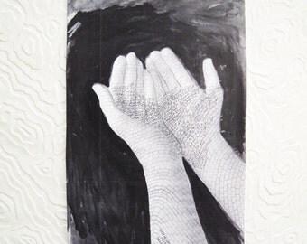 Shirin Neshat - Original Ink Drawing - COA