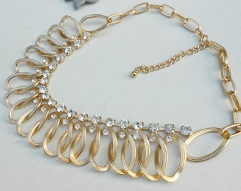 1970s Vintage Runway BOLD necklace Free USA Shipping