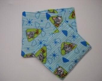 Kids Tom and Jerry Cloth Coasters - set of 4