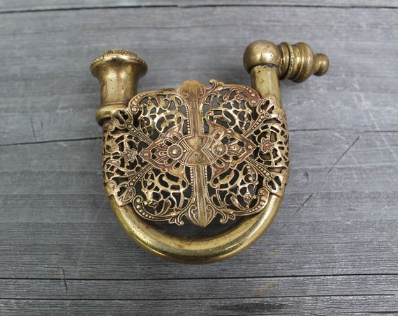 Vintage Brass Belt Buckles Vintage Brass Hidden Pipe Belt