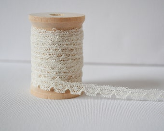 5 yards of cream English Miniature lace