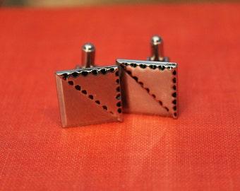 Vintage Men's Square Simple Cufflinks