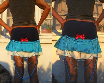 Pleated Mini Skirt, Cosplay Skirt, Anime Skirt, Cheerleader Skirt, Bustle Skirt, Harajuku Mini Skirt.