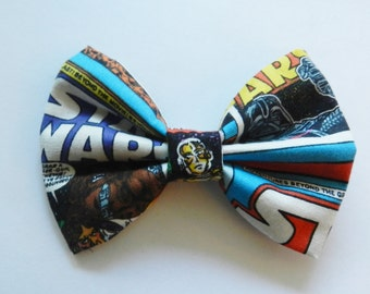 Small Star Wars Comic Fabric Hair Bow Clip Barrette