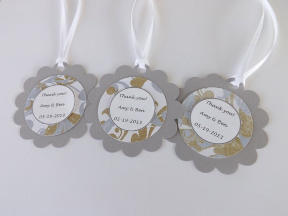 Wedding Favor Tags- Personalized Favor Tags- Baby Shower, Birthdays ...