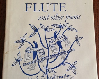 THE SILVER FLUTE and Other Poems - Book of Poetry - Signed by Georgia Adams