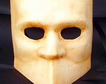 Bauta mask paper mache mask