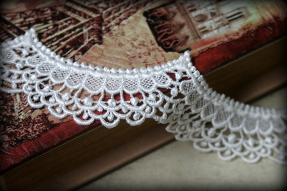 Ivory Venice Lace for Bridal, Costume Design, Sashes, Headbands, Handbags, Dresses, Crafting LA-098