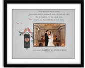 Parents of the Groom Gift, Personalized Picture Print, Wedding Thank you Gift For In Laws, You Raised with love 11x14 Print