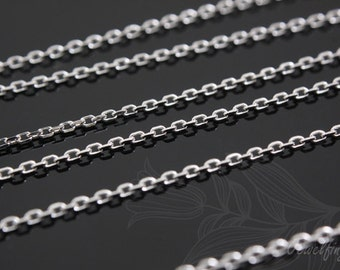 A098-Sterling silver-230 4DC-16.4ft-5M-Rhodium Plated