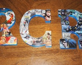 Set of 6 Custom Comic Book Letters