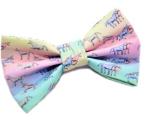 Charlie the Unicorn Bow Tie, with Adjustable Strap, mens bow ties, boys bowties, kids bow ties, sizes