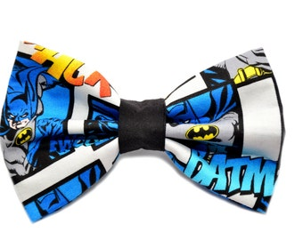 Batman Bow Tie, with Adjustable Strap, mens bow ties, boys bowties, kids bow ties, Comic, Batman Gift, Marvel