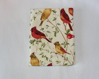 """Pretty Red Cardinal bird tablet cover/case for the 2013 or older Kindle Fire HD 7"""" and the iPad mini  and the 2014 Nextbook 8 covers"""