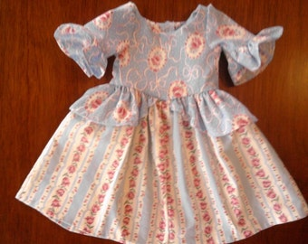 Colonial dress for 18in (American Girl type) doll