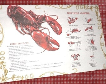 How to Eat Lobster Placemats Directions disposable paper place mats clambakes small qty  summer parties