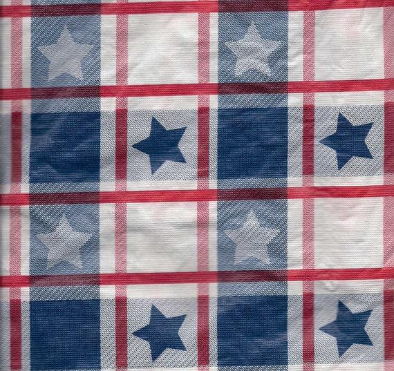 Patriotic Umbrella Tablecloth Vinyl Table Cloth Flannel Back
