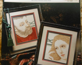 16th Century Lovers Pattern Leaflet by True Colors Cross Stitch