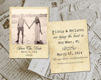 """Save The Date Cards - KeyWest e Photo Personalized 4.25""""x5.5"""""""