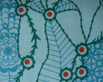 """Anna Maria Horner Field Study """"Migratory Lace"""" Aquatic color 100% Cotton Printed Fabric"""